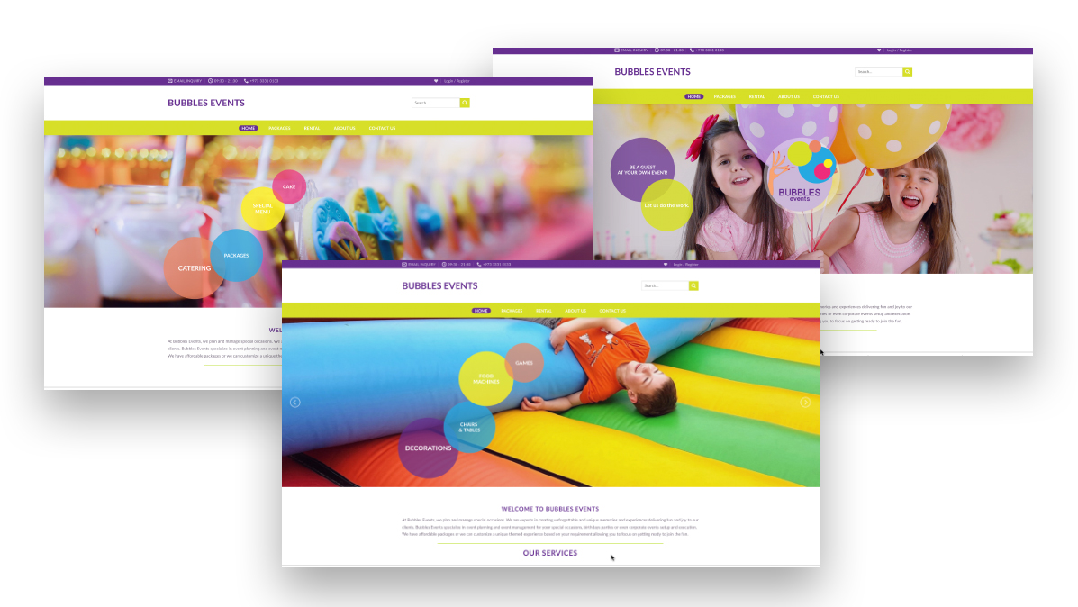 events website solution